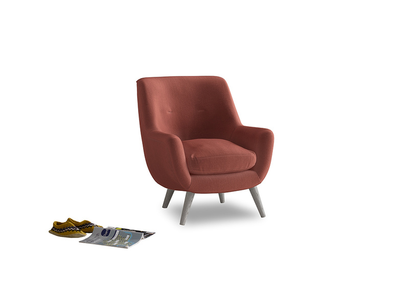 Berlin Armchair in Dusty Cinnamon Clever Velvet
