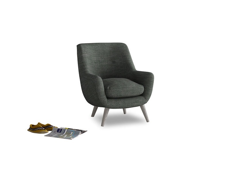 Berlin Armchair in Pencil Grey Clever Laundered Linen
