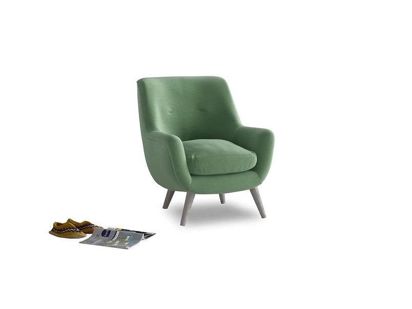 Berlin Armchair in Thyme Green Vintage Linen