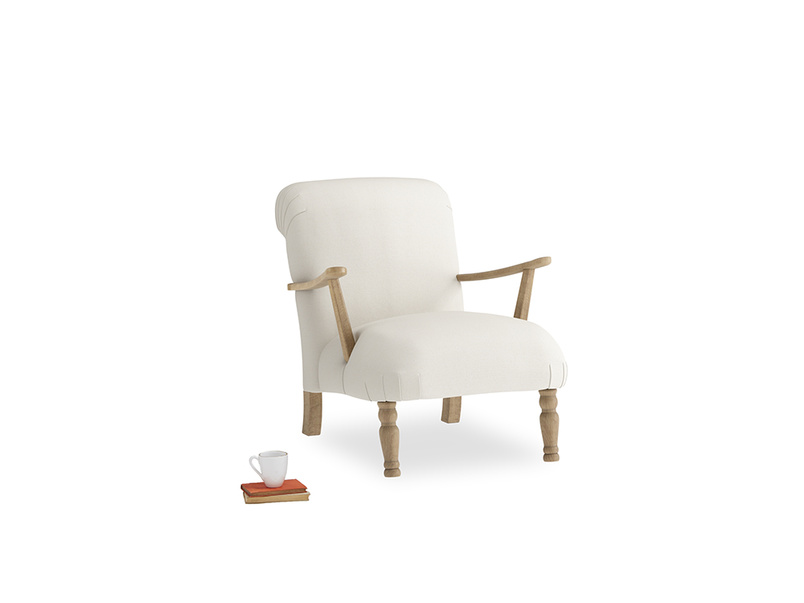 Brew Armchair in Chalky White Clever Softie