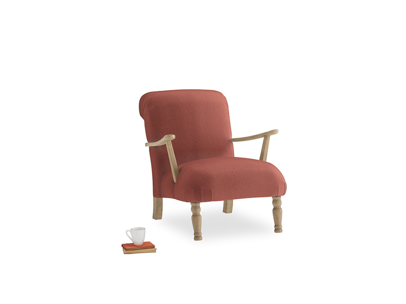 Brew Armchair in Dusty Cinnamon Clever Velvet