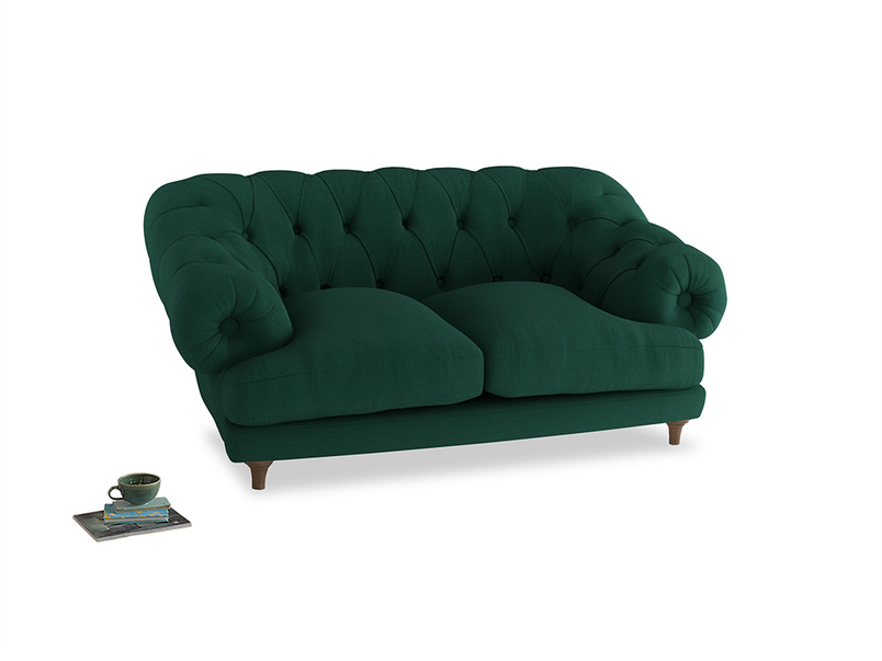 Small Bagsie Sofa in Cypress Green Vintage Linen