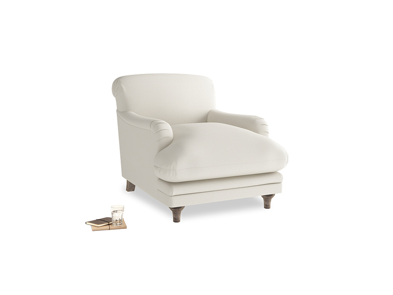 Pudding Armchair in Chalky White Clever Softie