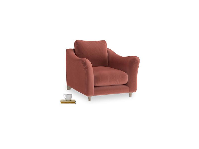Bumpster Armchair in Dusty Cinnamon Clever Velvet