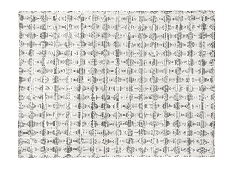 Large Waves In Grey rug