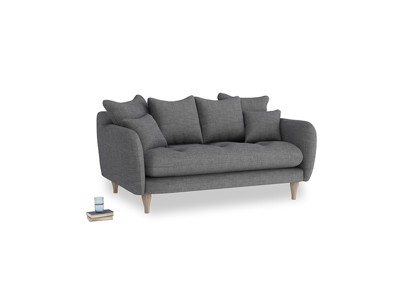 Small Skinny Minny Sofa in Strong grey clever woolly fabric