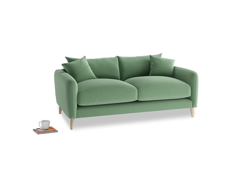 Small Squishmeister Sofa in Thyme Green Vintage Linen