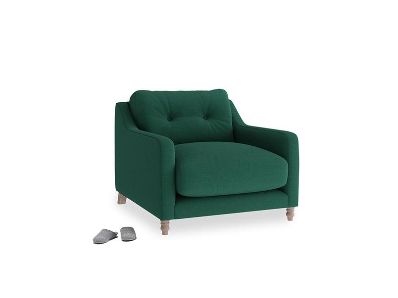 Slim Jim Armchair in Cypress Green Vintage Linen