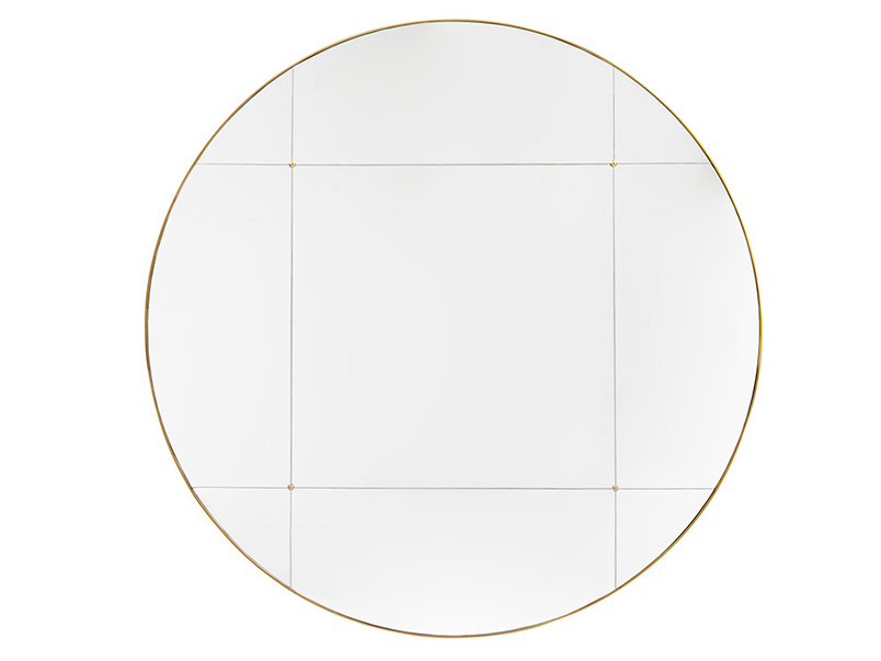Woogie Round Sectional Wall Mirror
