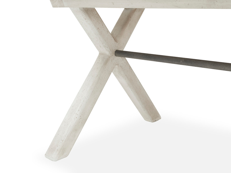Feast Extendable Handmade Farmhouse Kitchen Table Cross Leg Detail