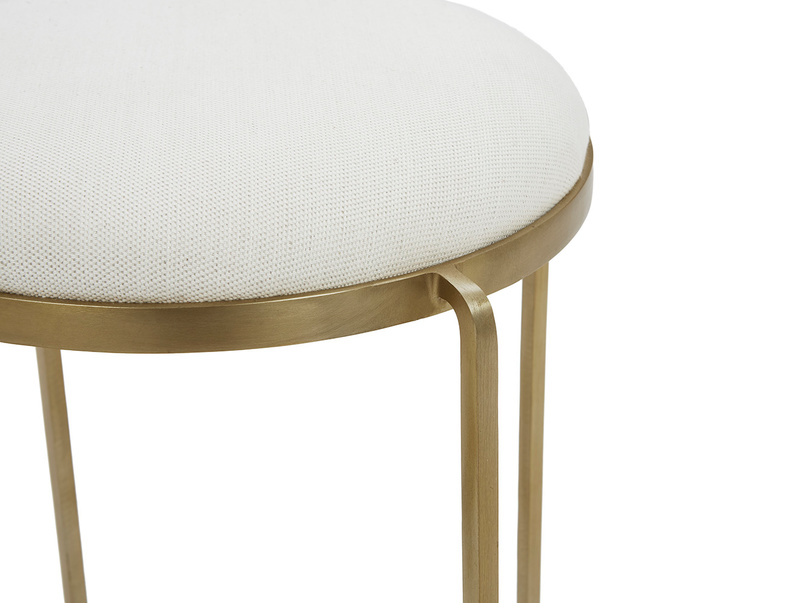 Footlight Dressing Table Stool Upholstered Seat