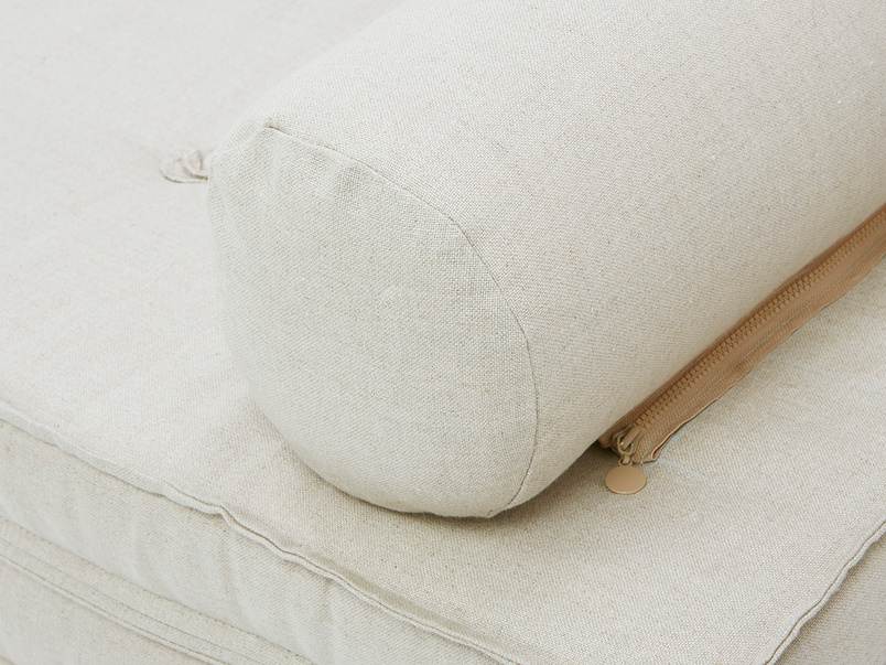 Parlay detail arm zip on bolster cushion
