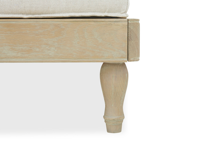 Parlay wood daybed leg detail