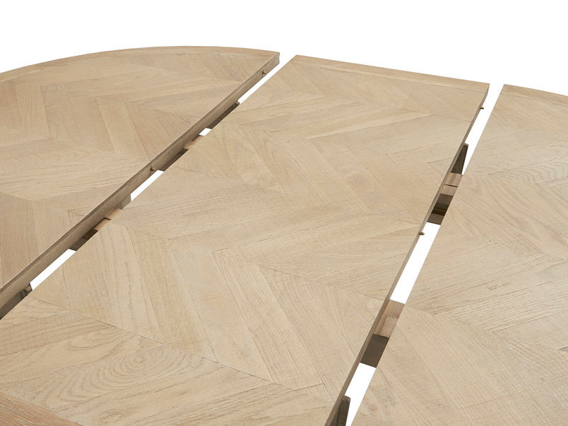 Parquet Pie extendable handmade wooden table