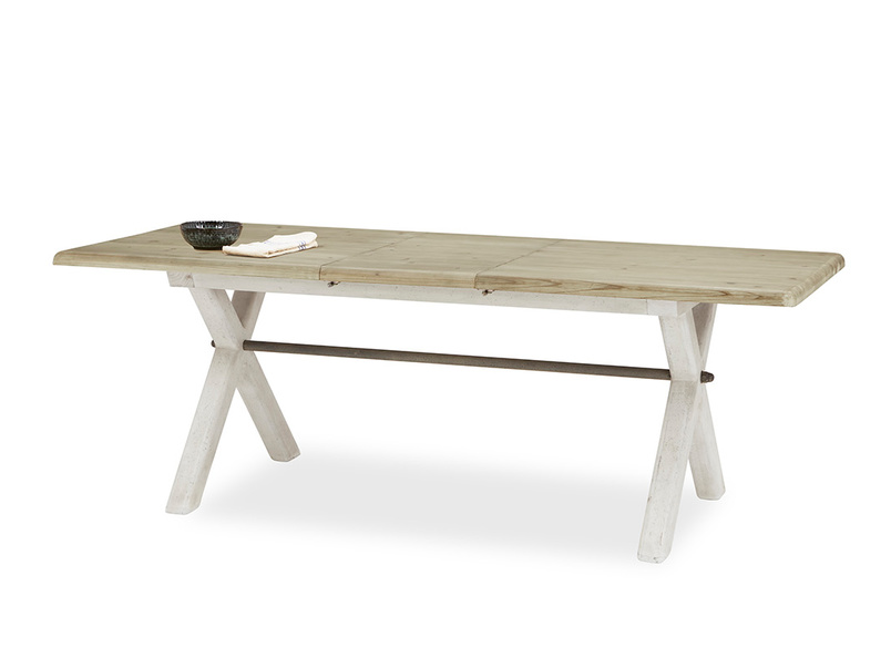 Feast Long Extendable Handmade Farmhouse Kitchen Table