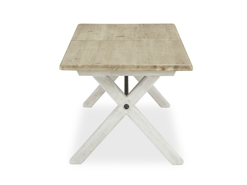 Feast Extendable Handmade Farmhouse Dining Table Side