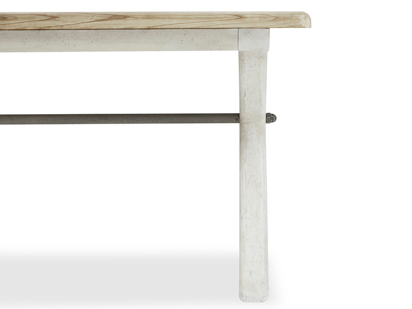 Feast Extendable Handmade Farmhouse Kitchen Table Right Leg Detail