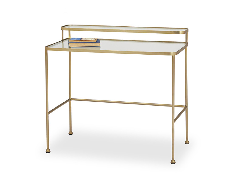 Showtime metal frame glass top dressing table