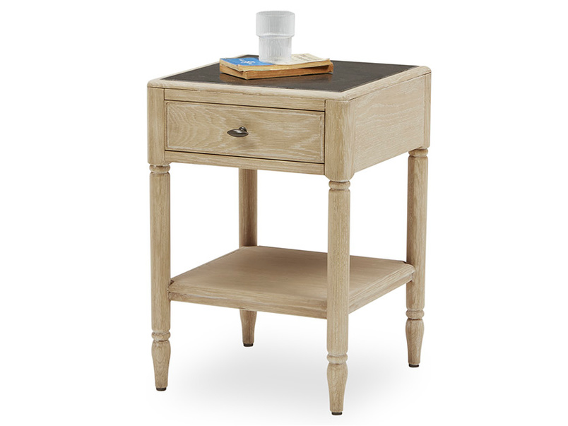 Albertine French Style Bedside Table Front
