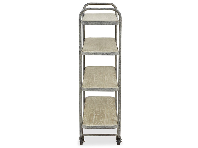 Busboy Industrial Style trolley shelves side