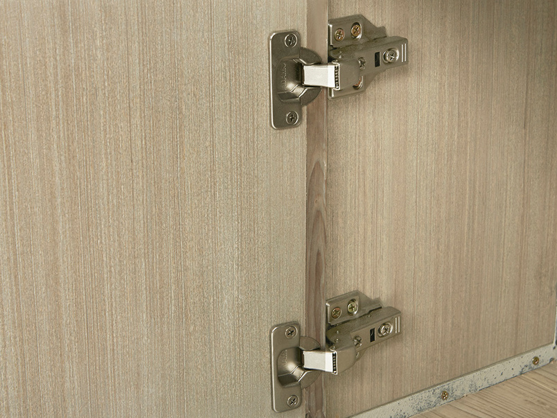 Tall Tim Slimline Shelves Cupboard Door Hinge Detail