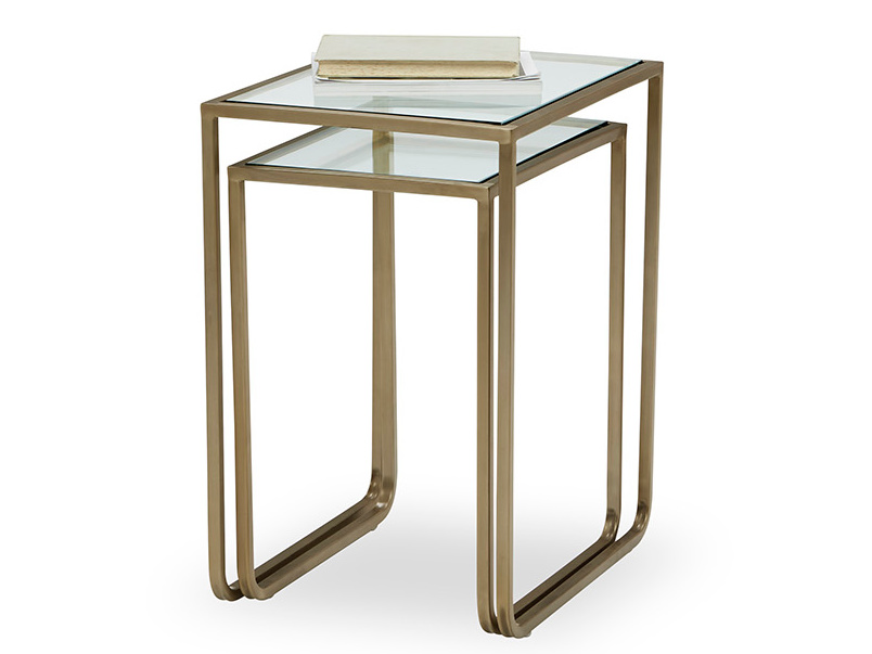 Shimmy Shquare Glass Side Table
