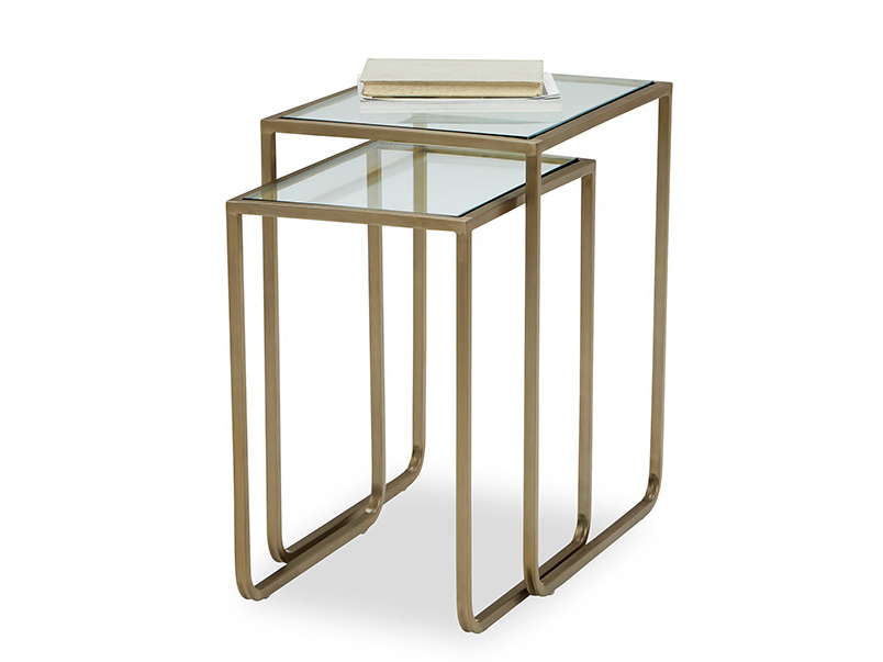 Shimmy Brass and Glass Side Table