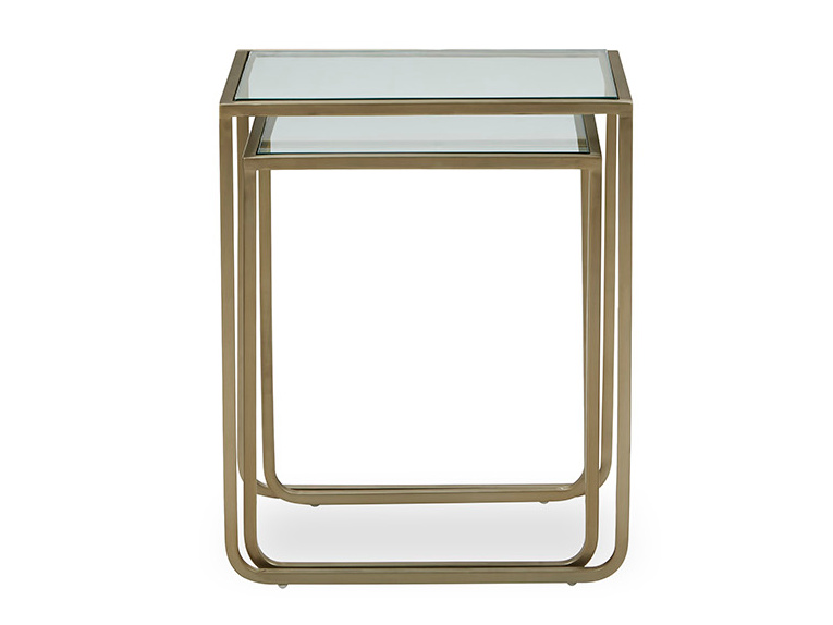 Shimmy Glass Nest of Side Tables
