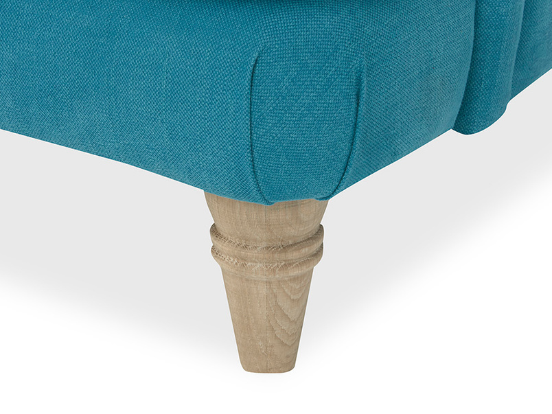 Cinema Deep Upholstered Low Arm Sofa Leg Detail