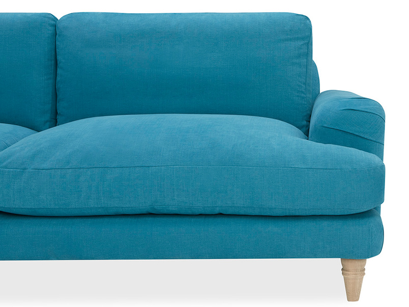 Cinema Deep Upholstered Low Arm Sofa Right Side Angle