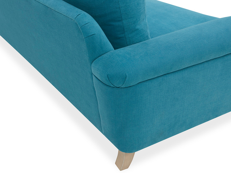 Cinema Deep Upholstered Low Arm Sofa Back Corner