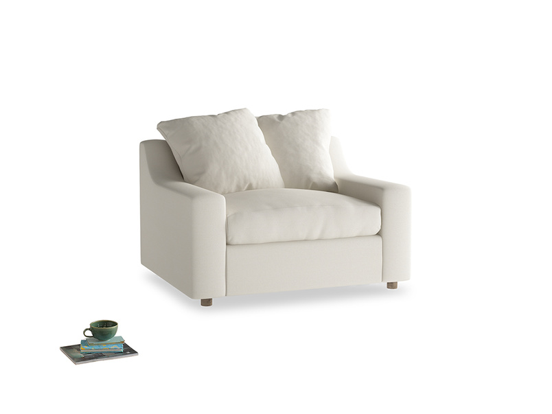 Cloud love seat sofa bed in Chalky White Clever Softie