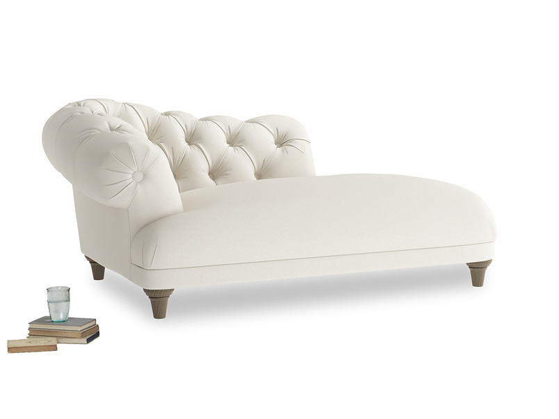 Left Hand Fats Chaise Longue in Chalky White Clever Softie