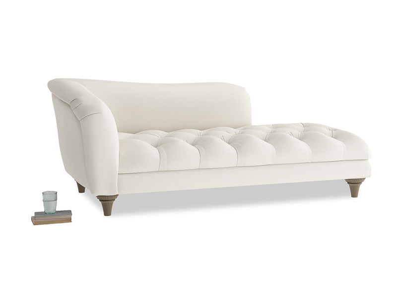 Left Hand Slumber Jack Chaise Longue in Chalky White Clever Softie