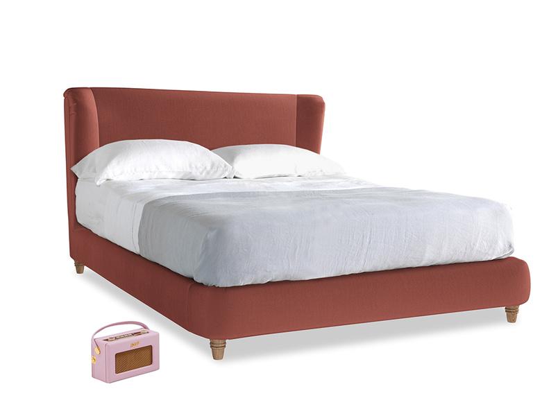 Kingsize Hugger Bed in Dusty Cinnamon Clever Velvet