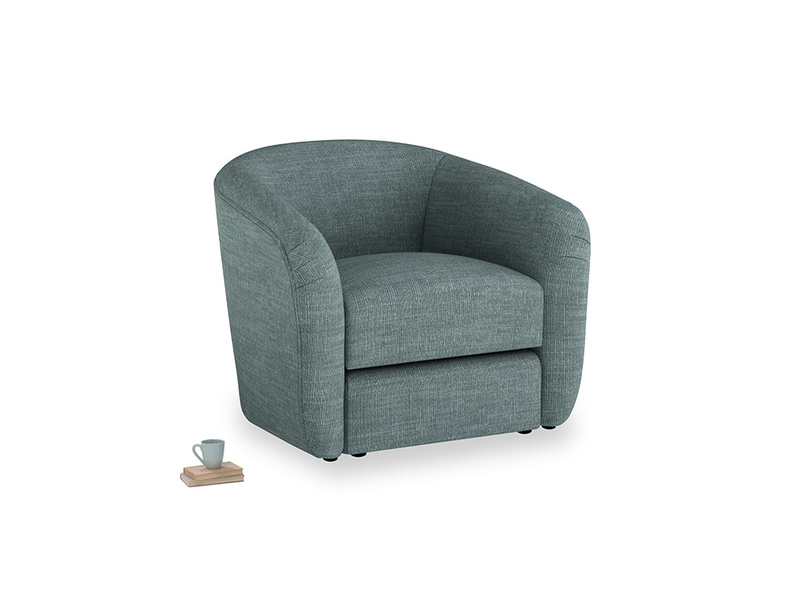 Tootsie Armchair in Anchor Grey Clever Laundered Linen