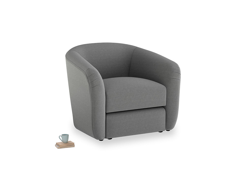 Tootsie Armchair in Ash washed cotton linen