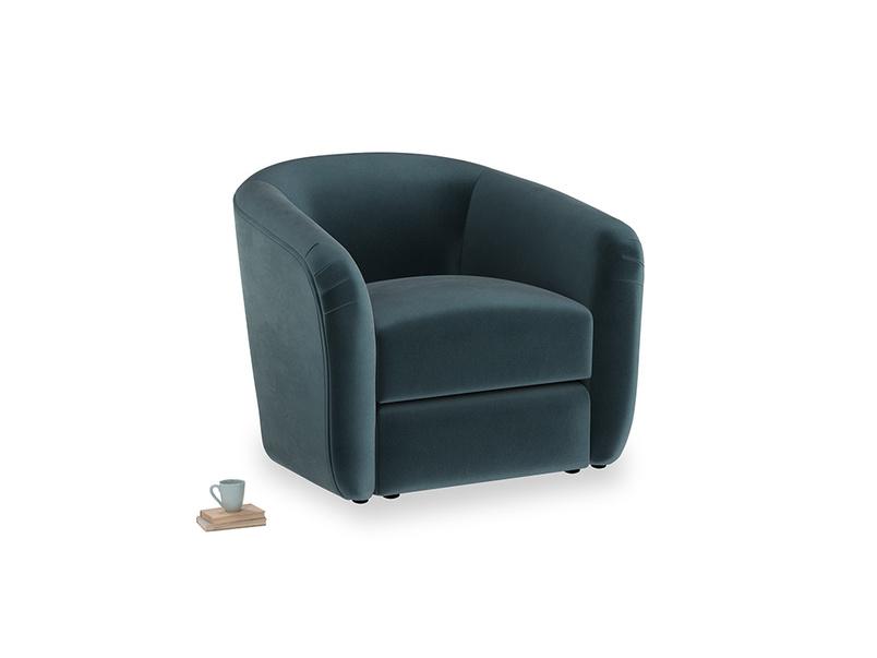Tootsie Armchair in Bluey Grey Clever Deep Velvet