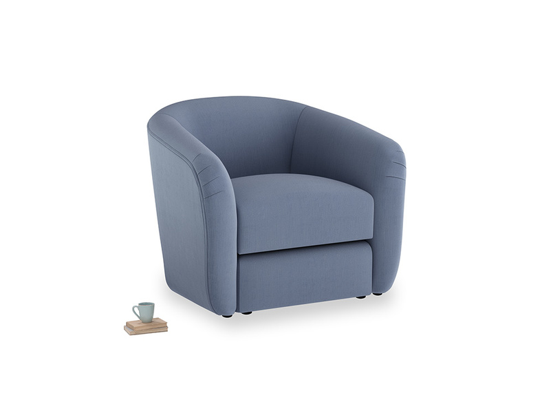 Tootsie Armchair in Breton blue clever cotton