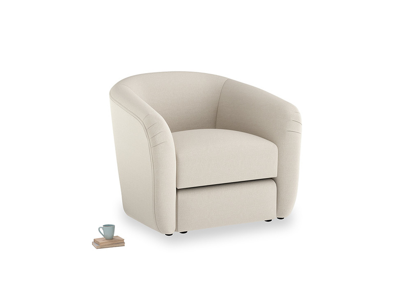 Tootsie Armchair in Buff brushed cotton