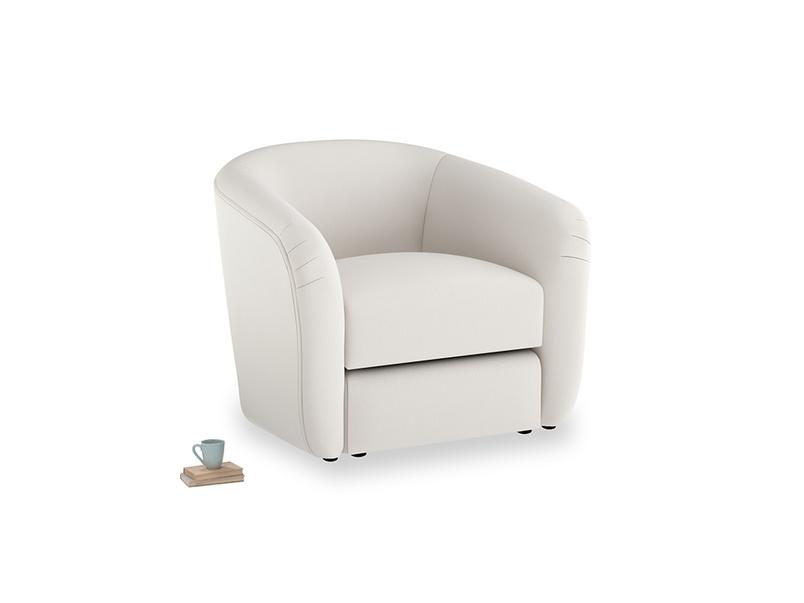 Tootsie Armchair in Chalk clever cotton