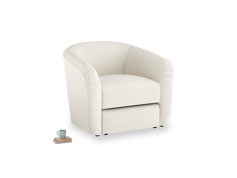 Tootsie Armchair in Chalky White Clever Softie