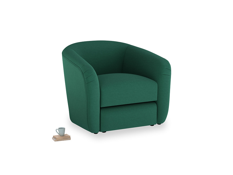 Tootsie Armchair in Cypress Green Vintage Linen