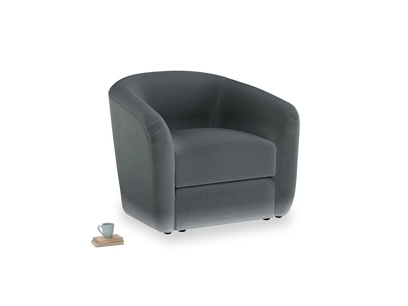 Tootsie Armchair in Dark grey Clever Deep Velvet