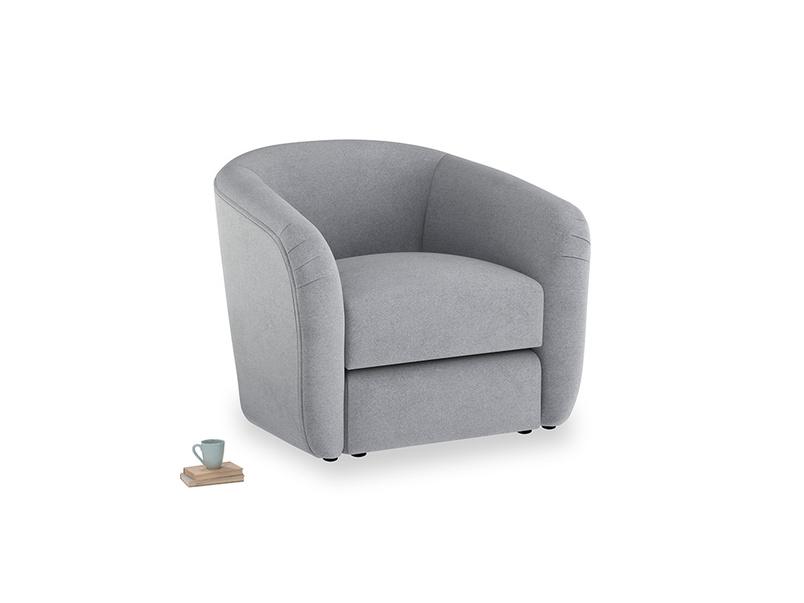 Tootsie Armchair in Dove grey wool