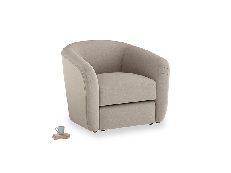 Tootsie Armchair in Driftwood brushed cotton