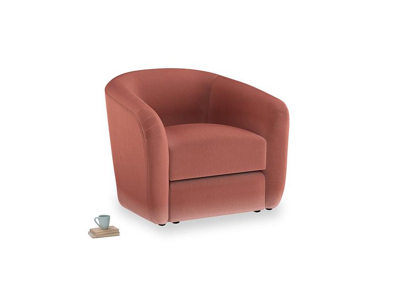 Tootsie Armchair in Dusty Cinnamon Clever Velvet