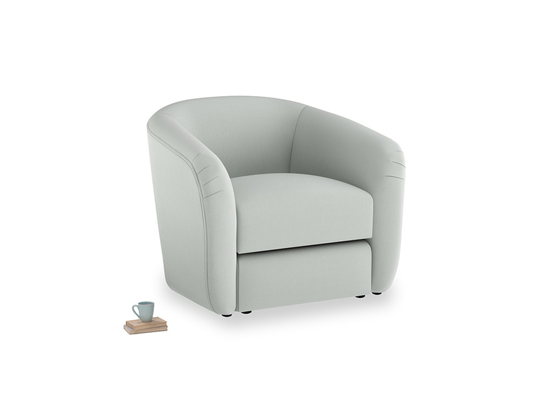 Tootsie Armchair in Eggshell grey clever cotton