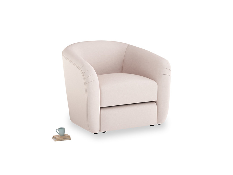Tootsie Armchair in Faded Pink brushed cotton