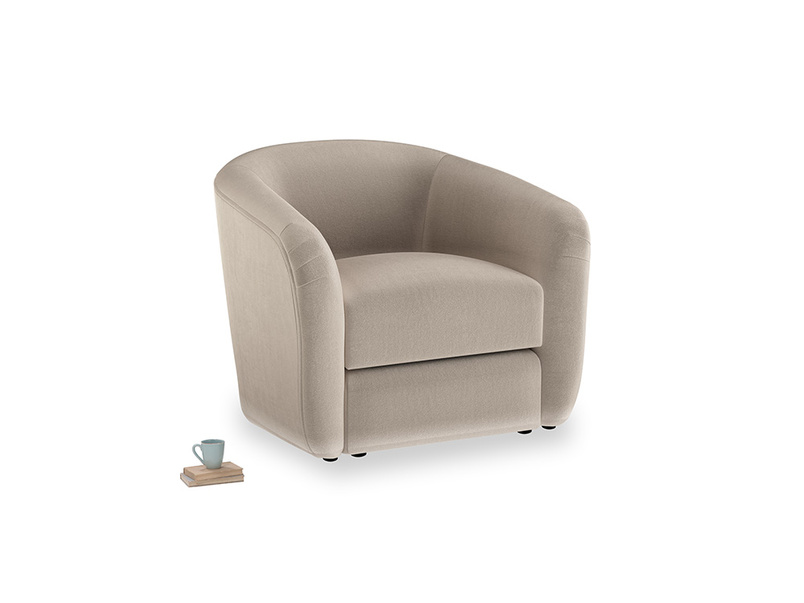 Tootsie Armchair in Fawn clever velvet